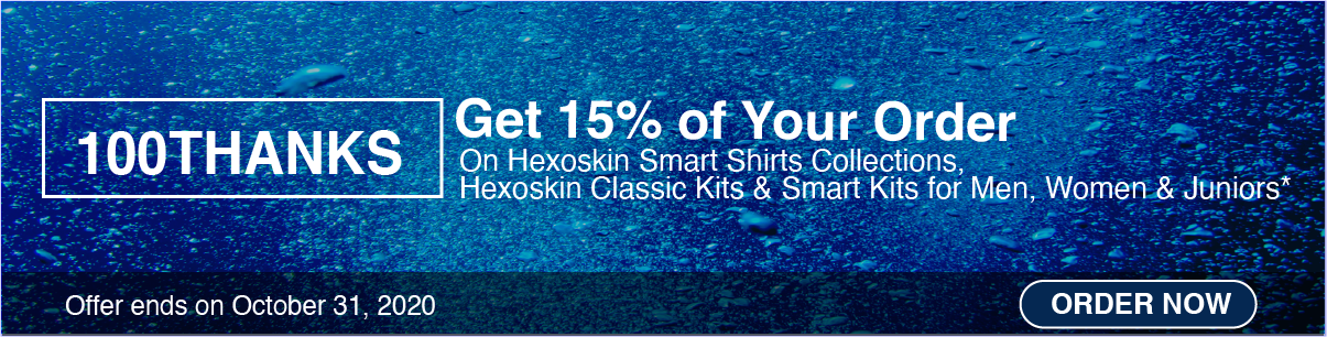 Hexoskin - October 2020 Promotion - Promo Code 100THANKS