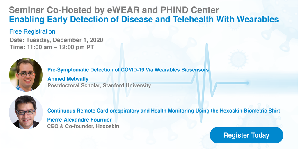 Seminar - Stanford - Hexoskin - Early Detection of disease onset and COVID-19 onset.