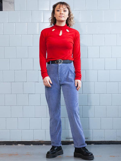 Vintage 90's Red LYCRA Top . 1990s Ruby Red Long Sleeve Top Sretchy Top Festival Top Skinny Top Stretch Shirt Vintage Clothing . size Small