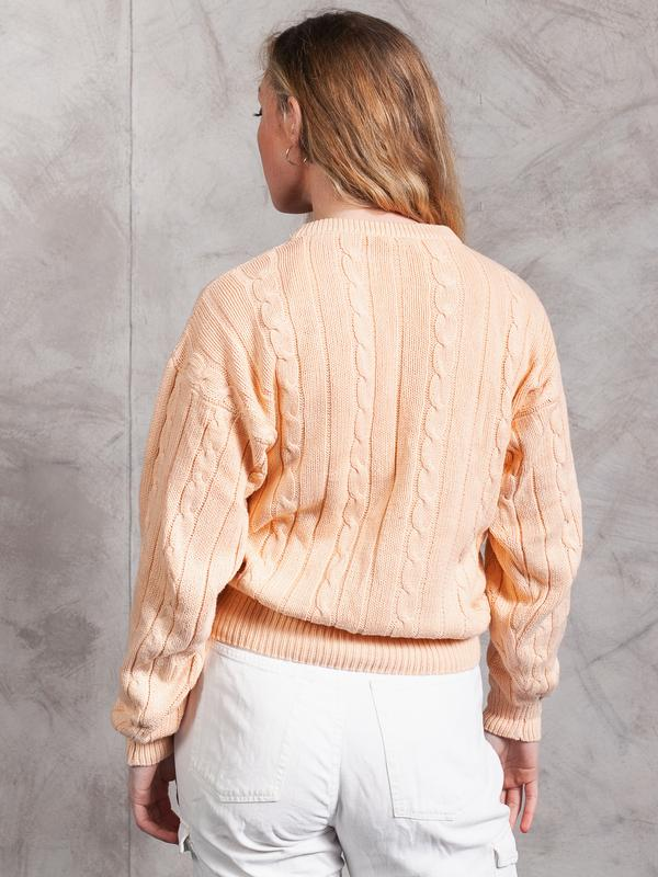 Vintage Cable Knit Pastel Sweater – NorthernGrip
