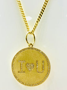 I Love You Coin Pendant