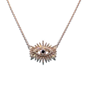 Large Evil Eye Diamond Pendant