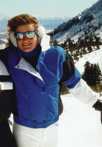 Photo of Jen Perry, Jelt President and Lover of Everything Rad, from 1985