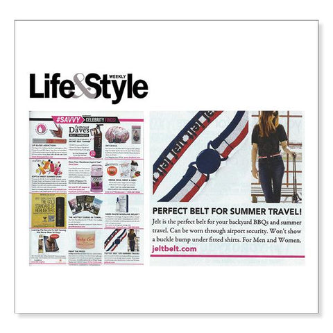 Jelt Retro, The Perfect Belt for Summer Travel, Life & Style Weekly Magazine