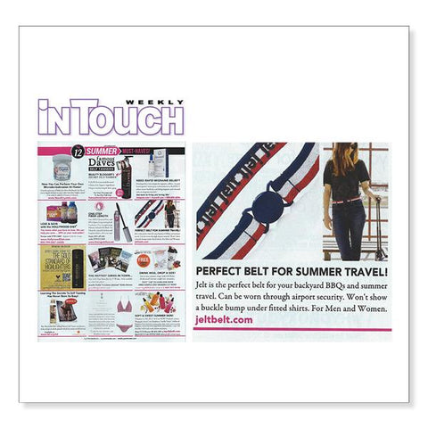 Jelt Belt featured as the Perfect Belt For Summer Travel, InTouch Weekly
