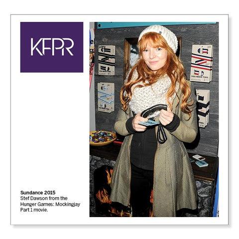 KFPR, Stef Dawson from The Hunger Games at Sundance with Jelt Belt