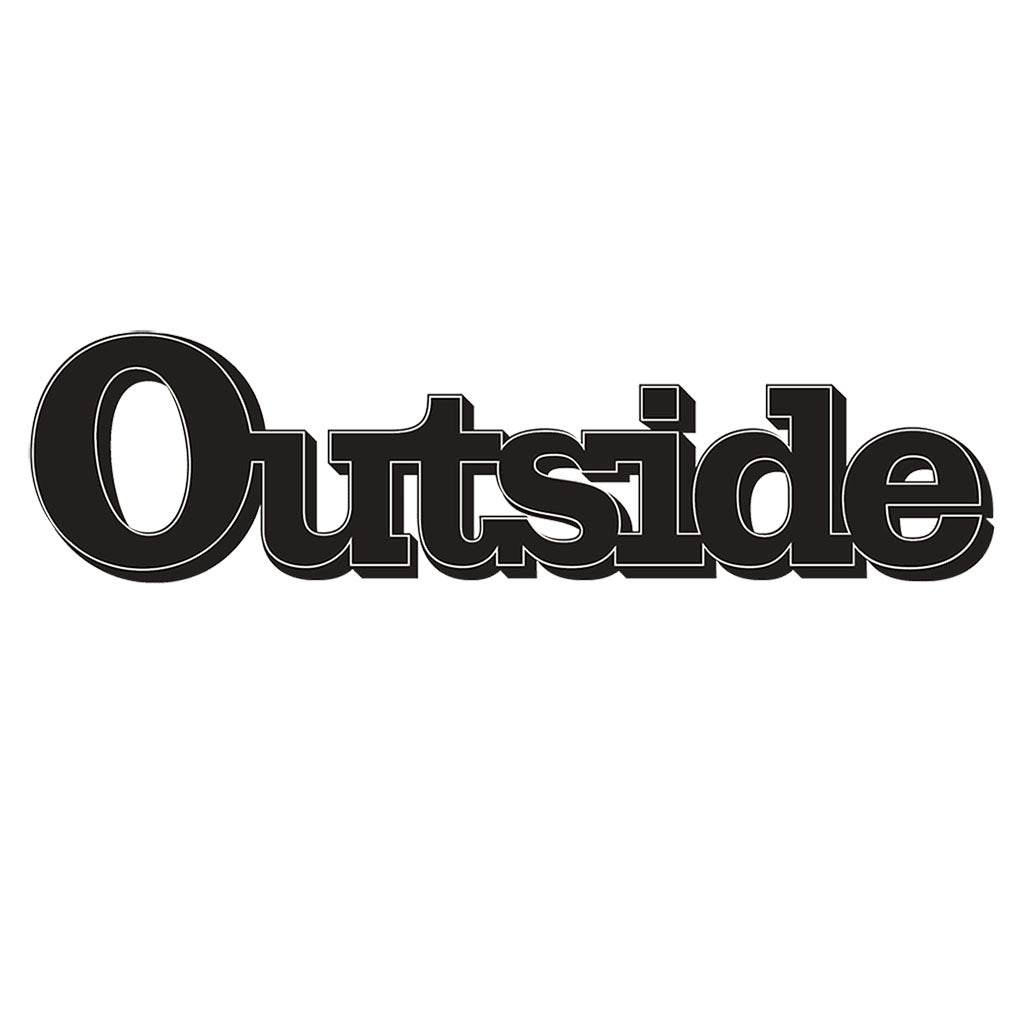 Outside Magazine logo. Jelt was featured in the 2018 Winter Buyer's Guide of Outside Magazine.