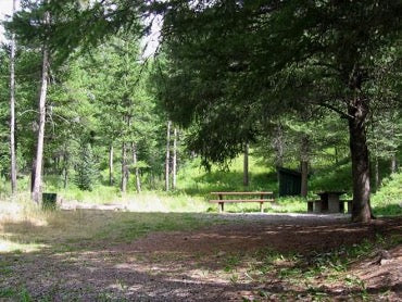 Swan Creek Campground in Gallatin Canyon, Montana