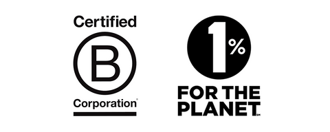 Jelt is a certified b corp and a 1% for the Planet partner