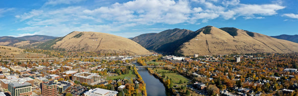 View of University of Montana in Missoula