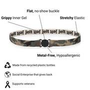 Jelt True Camo Anatomy with a diagram and call outs of product features