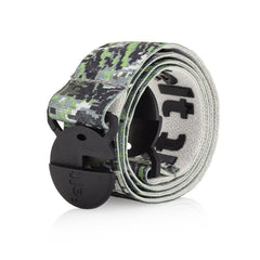 Digital Camo Jelt Belt with super-strong elastic, grippy inner gel and no-show buckle. Made for men and women.