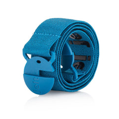 River Turquoise Blue Jelt Belt with super-strong elastic, grippy inner gel and no-show buckle.