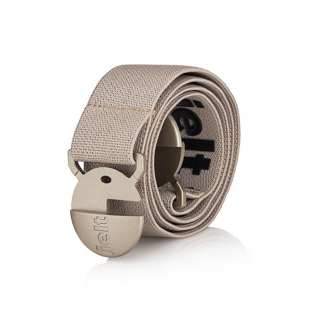 Khaki tank Jelt belt - product shot shown rolled