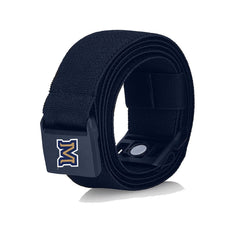 "Montana State University ""M"" JeltX Adjustable elastic belt in navy by Jelt belts."