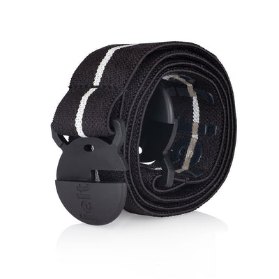 Jelt Junior elastic belt in black with white stripe