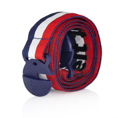 USA red, white and blue stripe Jelt belt