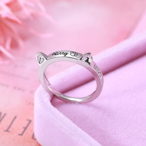 PERSONALIZED NAME PET RING WITH EARS