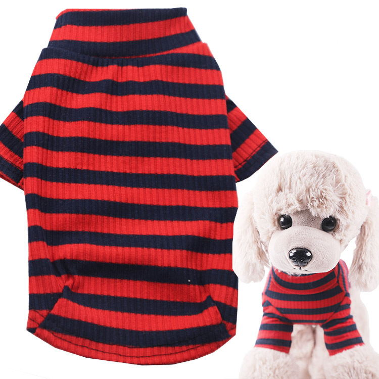 All-match striped pet clothes