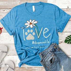 Dog Mom - Personalized Dog's Names T-shirt