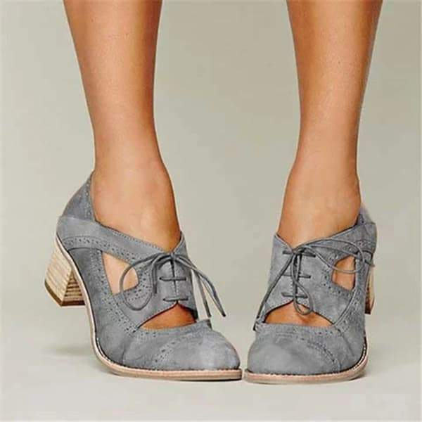 Susiecloths Cutout Lace-up Oxford Shoes