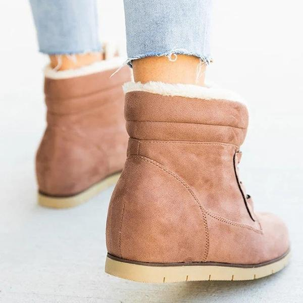 Susiecloths Wedge Heel Winter Leather Boots