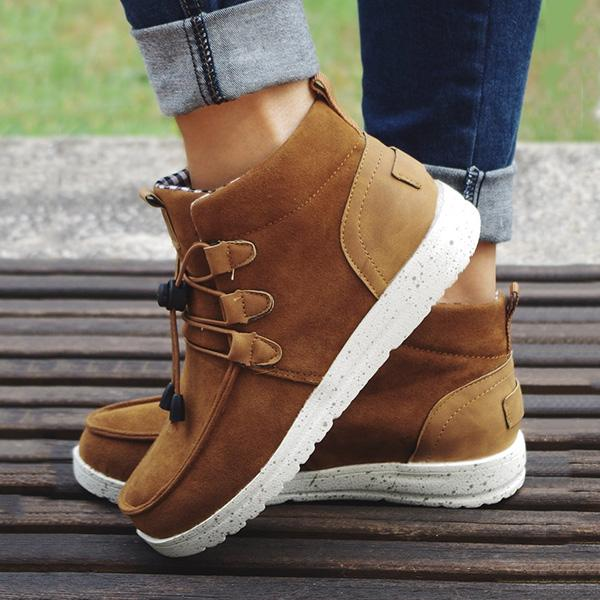 Susiecloths Casual Laced Front Ankle Boots
