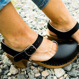 Susiecloths Ankle Strap Clog Sandals