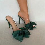 Susiecloths Satin Bow Stiletto Heels