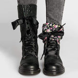 Susiecloths Women Retro Lace-up Boots