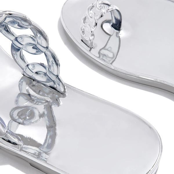 Susiecloths Casual Toe Loop Detailing Jelly Sandals