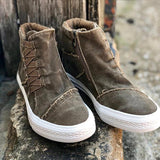 Susiecloths Casual Daily High Top Stylish Flat Sneakers