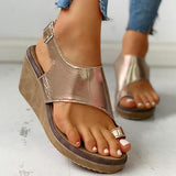 Susiecloths Toe Ring Cutout Slingback Sandals