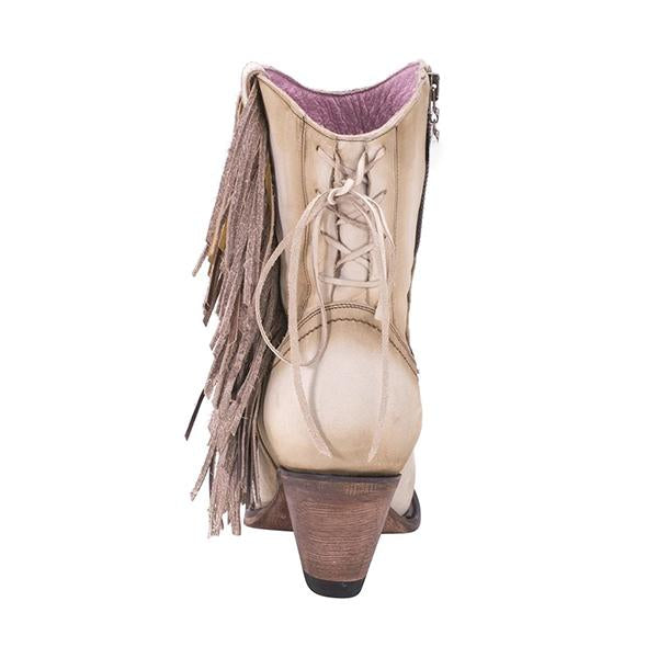 Susiecloths Women Fringe Zipper Western Boot