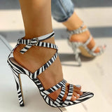 Susiecloths Multi-Strap Crisscross Thin Heels