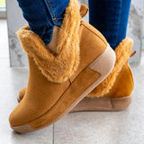 Susiecloths Soft Faux Suede Fur Ankle Boots