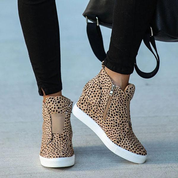 Susiecloths Extra Mile Leopard Wedge Sneakers
