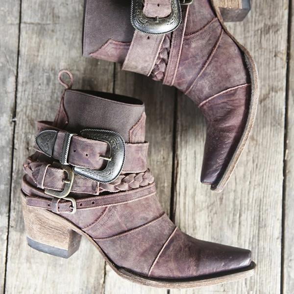 Susiecloths Classic Distressed Leather Ankle Boots