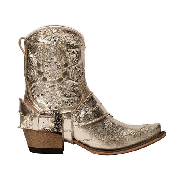 Susiecloths Mid Heel Ankle Boots Western Cowboy Booties
