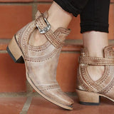 Susiecloths Buckled Strap Bootie Fashion Boots