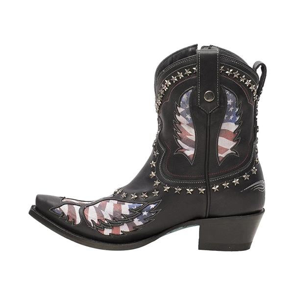 Susiecloths Patriotic Pull-On Western Cowgirl Boots