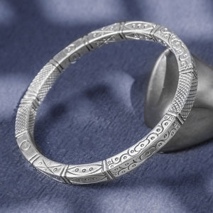 Ancient Totem Pure 999 Silver Bangle (25)