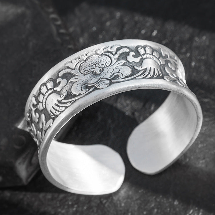 Lion Pure 999 Silver Bangle (96)