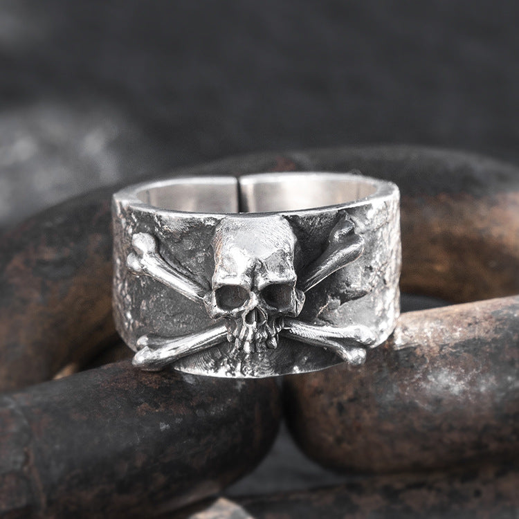 Skull And Cross Bones Pure 999 Silver Ring