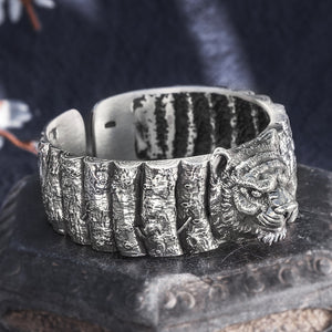 Tiger Pure 999 Sterling Silver Bangle (17)