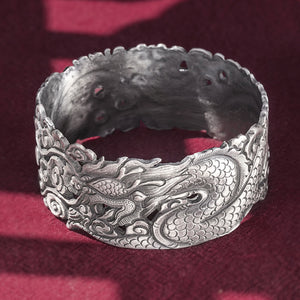 Dragon Pure 999 Silver Bangle (123)