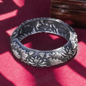 Lotus Pure 999 Silver Bangle (114)