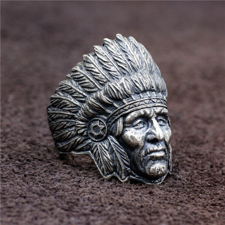 Native Chief Pure 925 Silver Ring