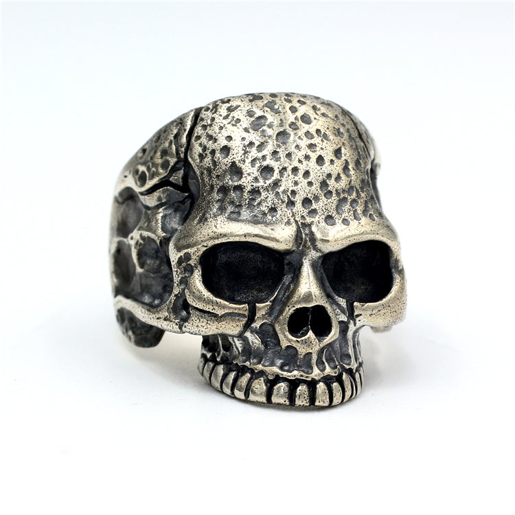 Medium Punk Skull Pure 925 Silver Ring