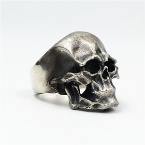 Punk Skull Pure 925 Silver Ring